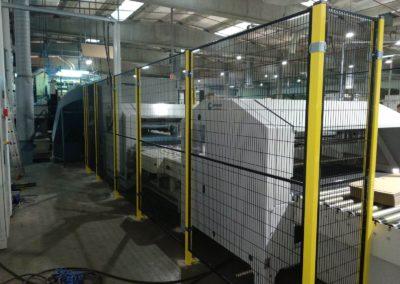 Barreras y vallas de seguridad para maquinaria